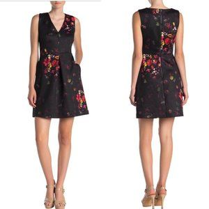 Sam Edelman A line V-Neck Floral Dress Sz.6 NWT!